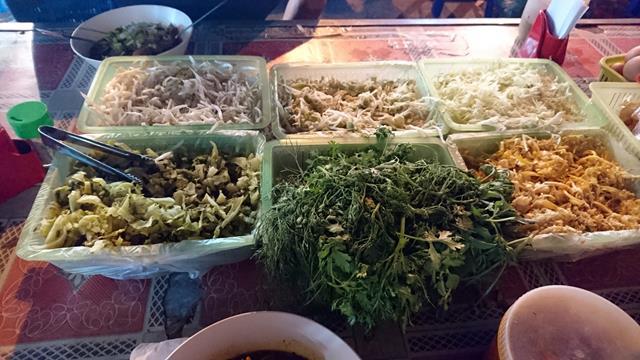 Khao soi toppings, Warorot Market, Chiang Mai, Thailand