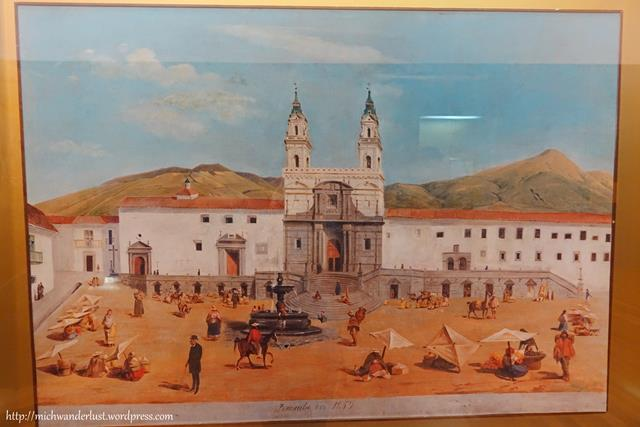 Iglesia de San Francisco in 1859, Quito, Ecuador