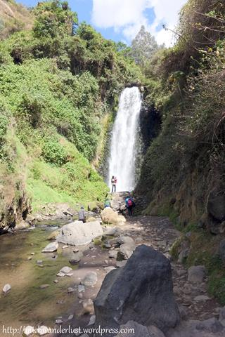 Peguche waterfalls, a popular day trip from Otavalo, Ecuador