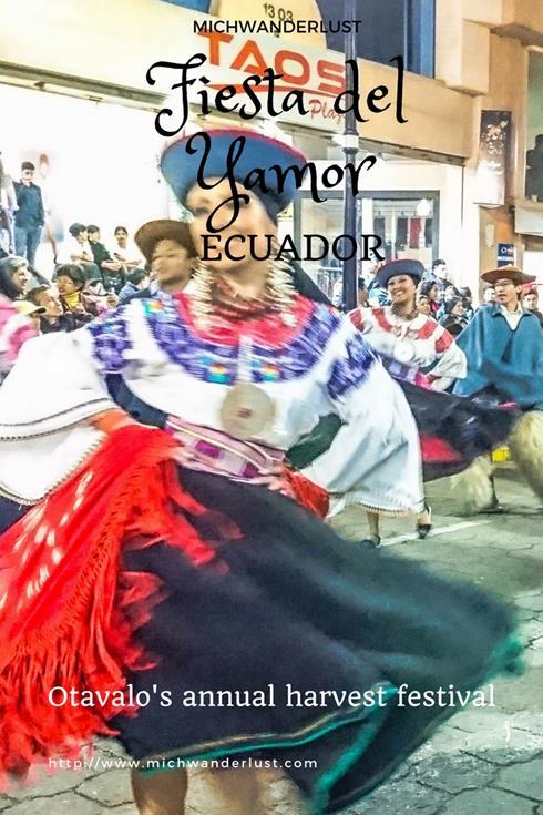 Fiesta del Yamor in Ecuador - Otavalo's annual harvest festival | MichWanderlust #travel