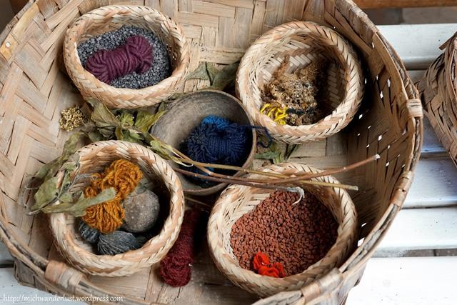 Miguel Andrango backstrap weaving dyes Otavalo Ecuador