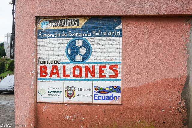 Football factory, Salinas de Guaranda, Ecuador