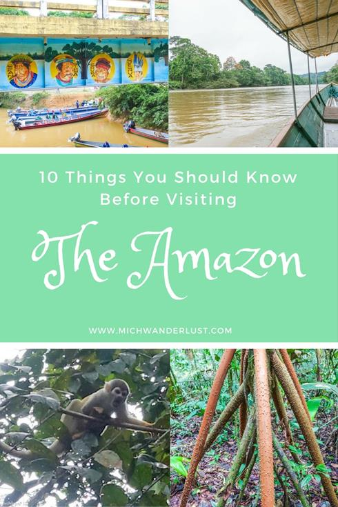 If visiting the Amazon rainforest in South America is on your bucket list (and why shouldn't it be?), check out these 10 things you should know before visiting the Amazon. | MichWanderlust | #Travel #Amazon #Ecuador #SouthAmerica #Traveltips